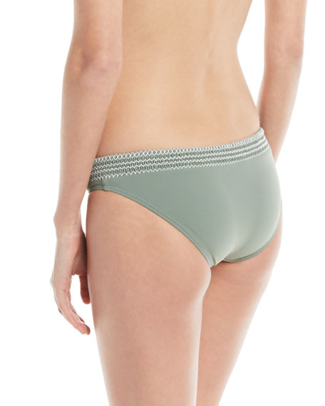 Kisuii Solid Swim Bikini Bottoms with Smocking
