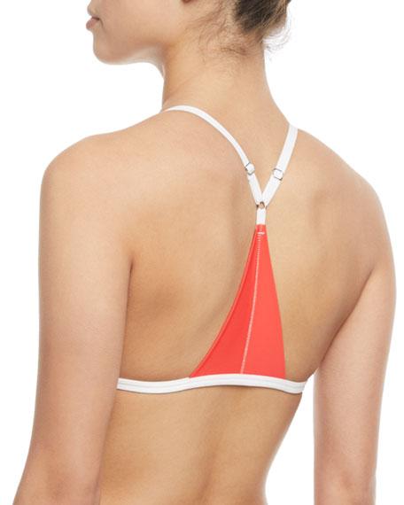 Rocki Triangle Printed Swim Top