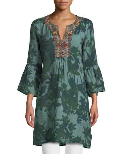 WOMENS FLARE SLEEVE TUNIC DR