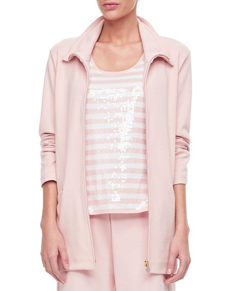Joan Vass Long-Sleeve Jog Jacket