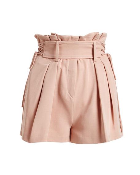 Lalora High-Waist Lace-Up Shorts