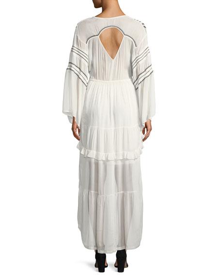 Opsey Surplice Long-Sleeve High-Low Dress