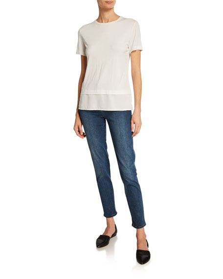 St. John Collection Stretch Denim Slim Ankle Jeans