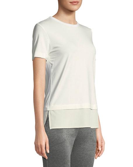 St. John Collection Crewneck Soft Wash Jersey T-Shirt