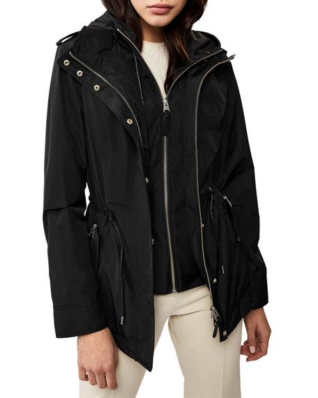 Mackage Meltiar Hooded Rain Jacket w/ Covered Placket