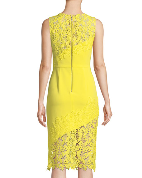 Margy Floral Lace Sleeveless Dress