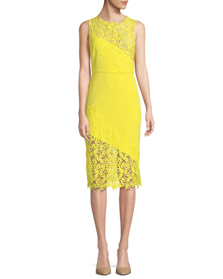 Alice + Olivia Margy Floral Lace Sleeveless Dress