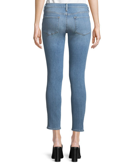 Image 2 of 4: Le Skinny De Jeanne Distressed Jeans