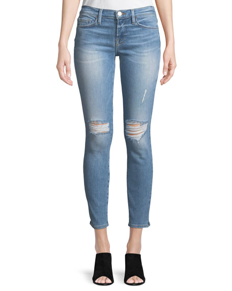 Image 1 of 4: Le Skinny De Jeanne Distressed Jeans