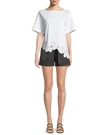 Greenpoint Urbane Satin Cloth City Shorts