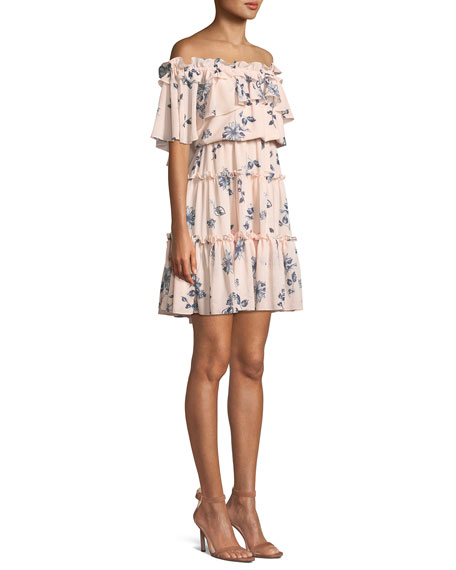 Lora Floral Off-the-Shoulder Mini Dress