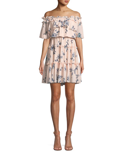 Lora Floral Off-the-Shoulder Mini Dress