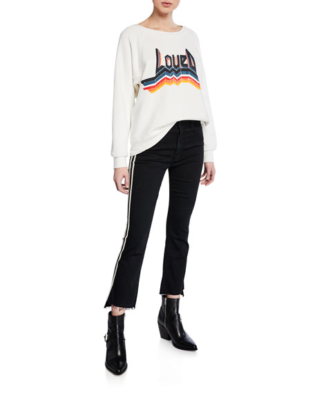 Insider Crop Step Fray Striped Jeans