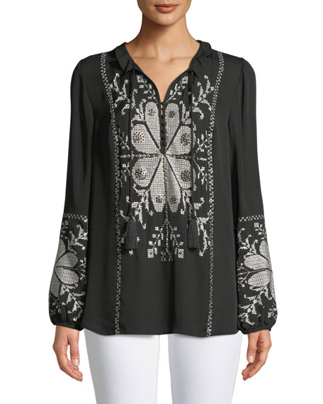 Kobi Halperin Madelina Embroidered Blouse