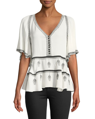 Camille Embroidered Blouse