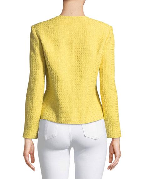 Tweed Jacket with Pearl Trim, Petite