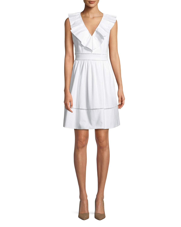 0ec605d675c kate spade new york ruffle-neck sleeveless cotton dress