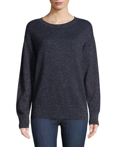 Cashmere-Blend Rainbow Metallic Sweatshirt