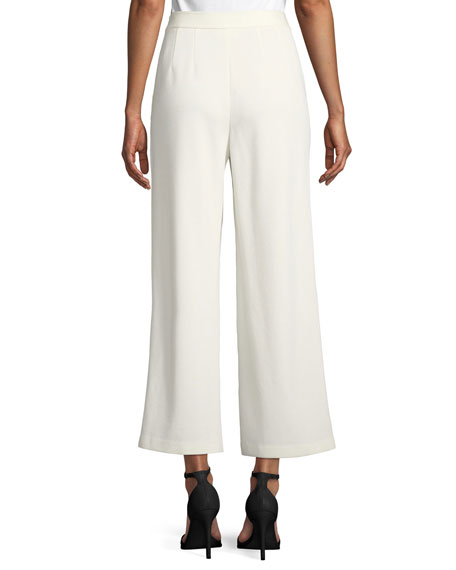 Milano Knit Wide-Leg Cropped Pants