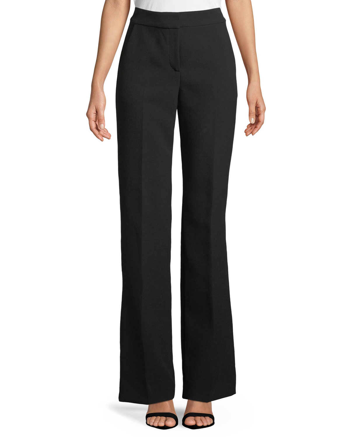 St. John Collection Bella Double-Weave Pants