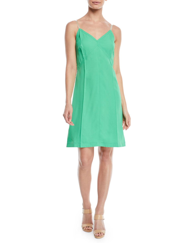 2bd3ca726823 Helmut Lang V-Neck Mini Slip Dress | Neiman Marcus