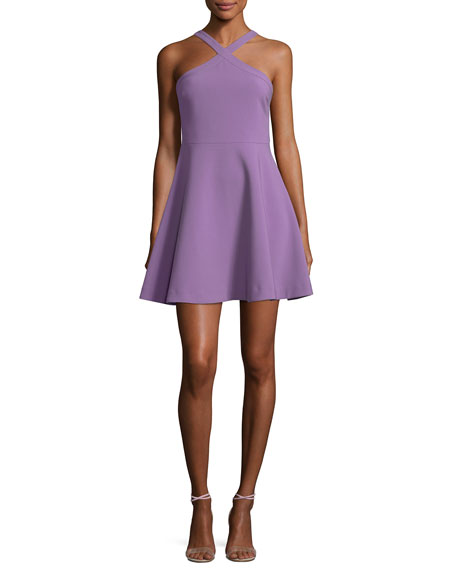 Ashland Halter Sleeveless Fit-and-Flare Short Dress