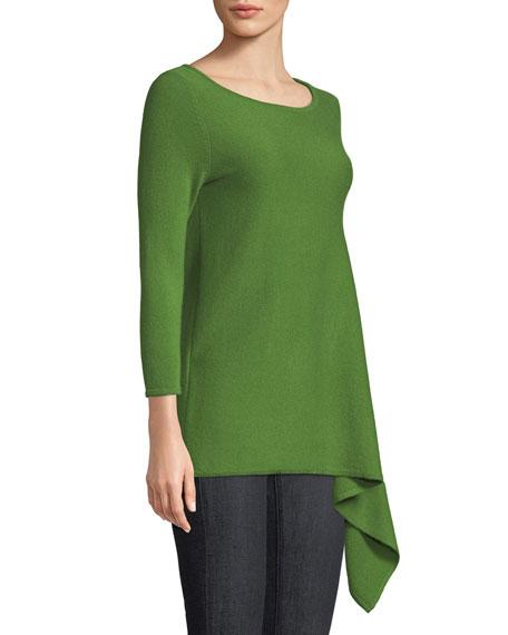 Cashmere Asymmetric-Hem Sweater