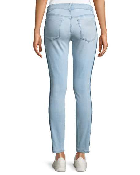 Joe's Jeans Icon Tuxedo-Stripe Ankle Skinny Jeans