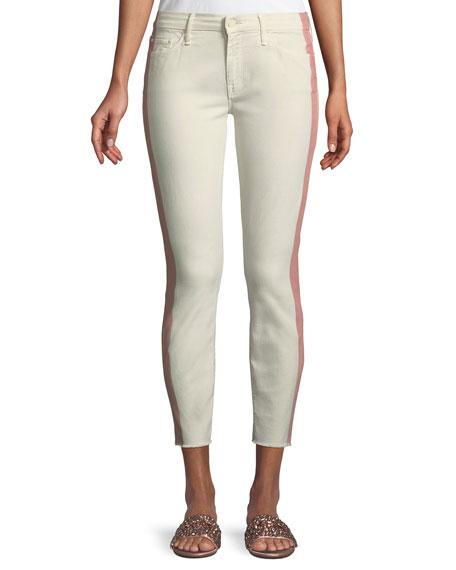 Looker Side-Stripe Ankle Skinny Jeans