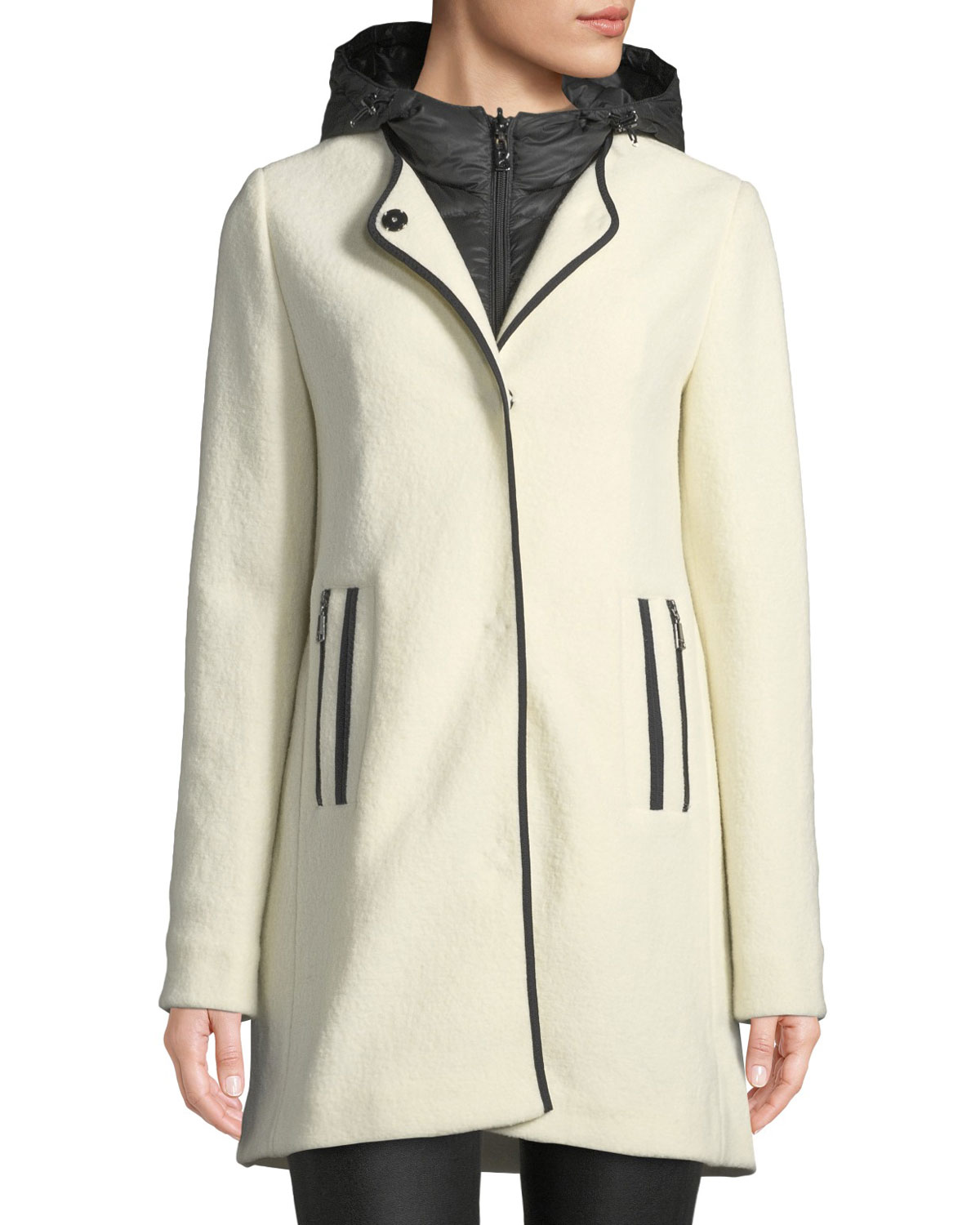 c863f74d08df2 Bogner Susana Two-Piece Coat w  Hood   Wool Overlay