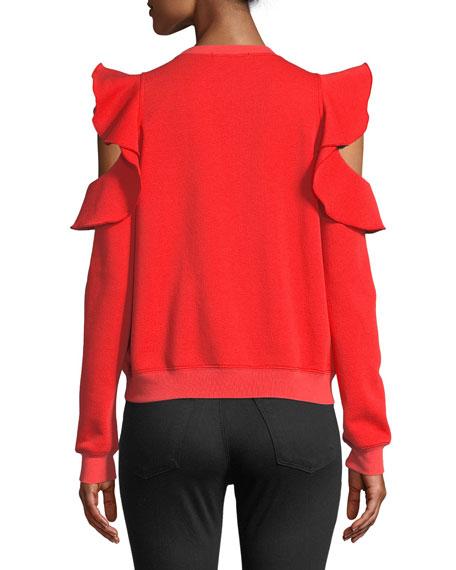 Gracie Ruffle Crewneck Sweatshirt