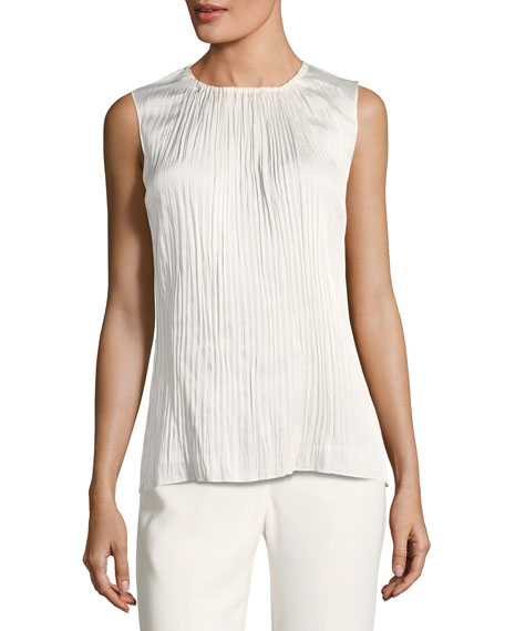 Image 1 of 2: Janetta Posh-Twill Blouse