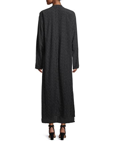 Morse Code Long Kimono Jacket