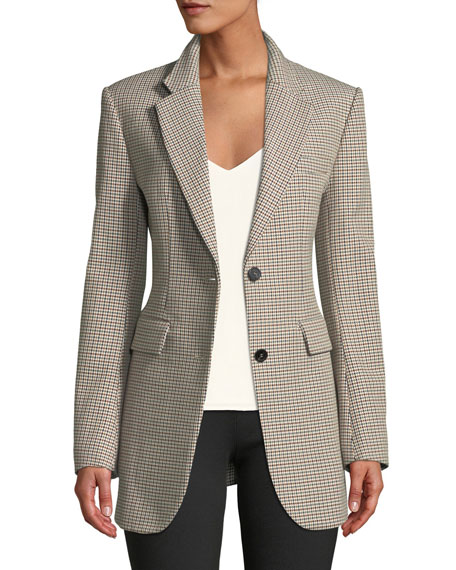 Super-Cinch Fremont Plaid Long-Line Blazer