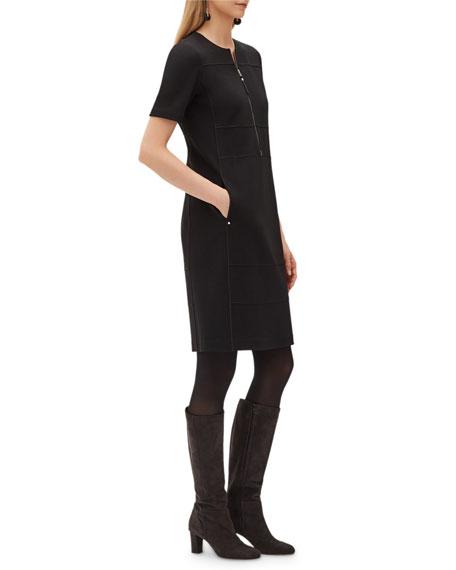 Demi Punto Milano Zip-Up Dress
