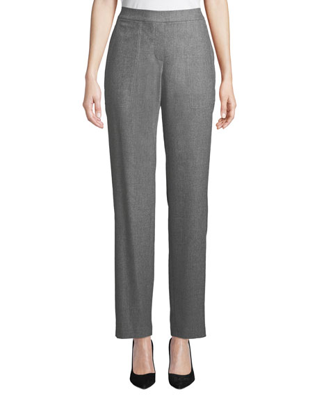 Lafayette 148 New York Fulton High-Waist Straight-Leg Italian