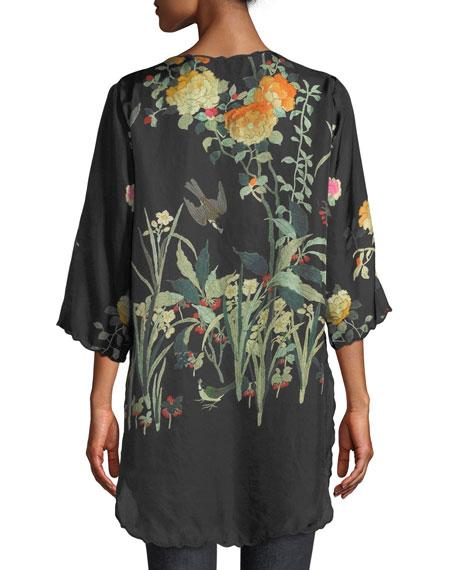 Charlotte Rose-Print Silk Blouse