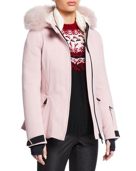 Moncler Grenoble Bauges Belted Jacket w/ Removable Fur