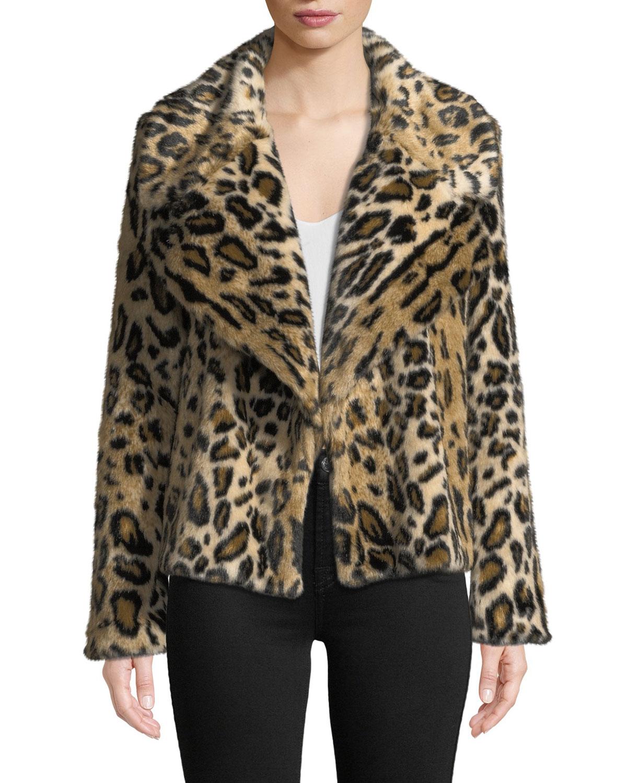 2203a99b15e3 Milly Cheetah-Print Faux-Fur Jacket | Neiman Marcus