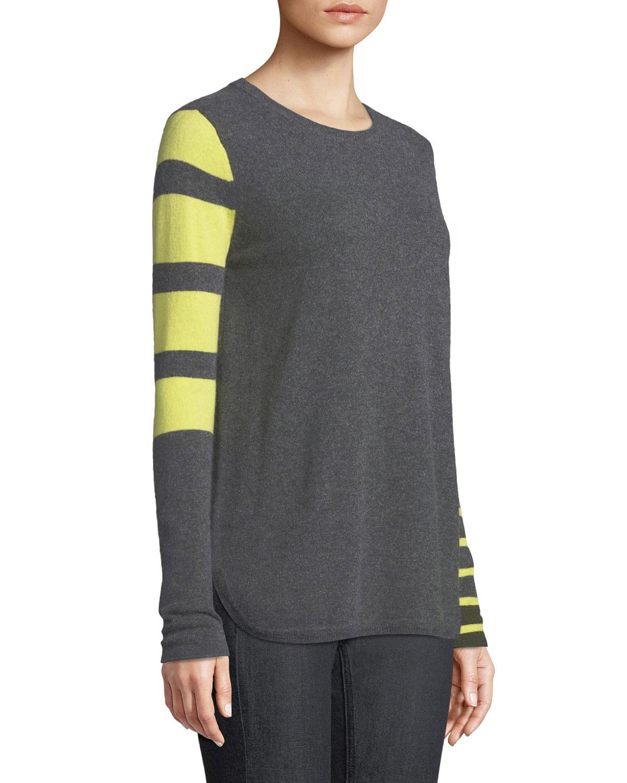 c3027333b0c Lisa Todd Classic Pop Striped Cashmere Sweater