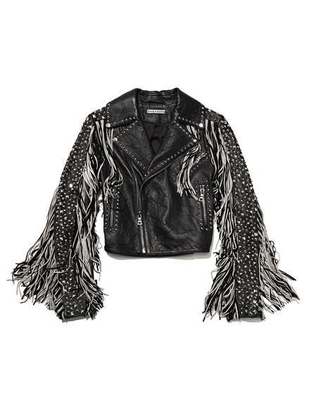 Cody Fringe Leather Moto Jacket