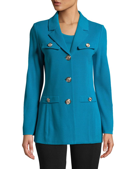 Misook Petite Dressed Up Button-Front Jacket