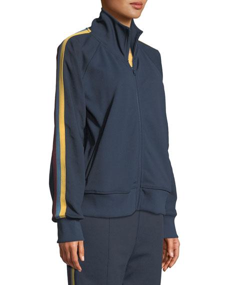 Spiritual Gangster Side-Stripe Zip-Front Track Jacket