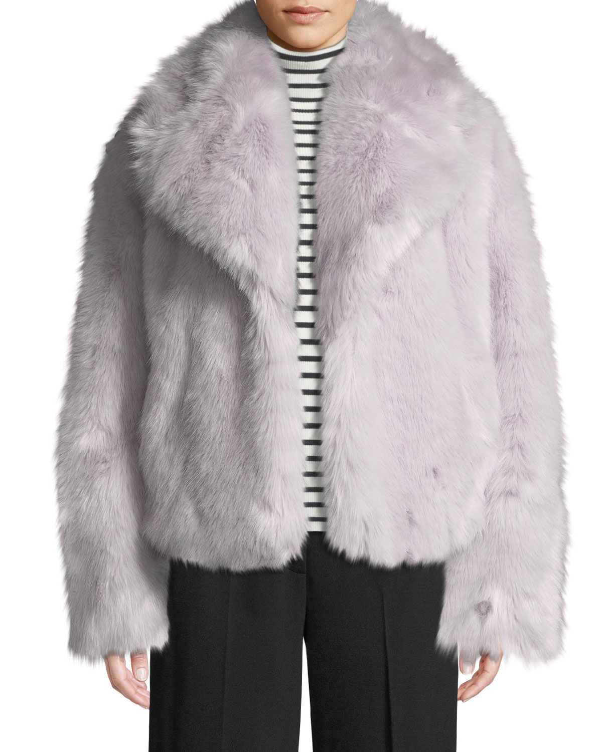 1b0b14c71 Grant Long-Sleeve Faux-Fur Jacket