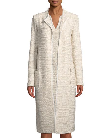 St. John Collection Long Knit Jacket w/ Pockets