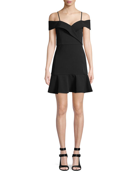 Alice + Olivia Dash Faux-Wrap Dress