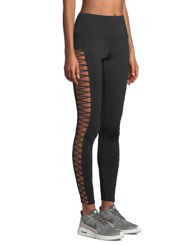 42b4b40eb5 Alo Yoga Highline Lace-Up Performance Leggings | Neiman Marcus