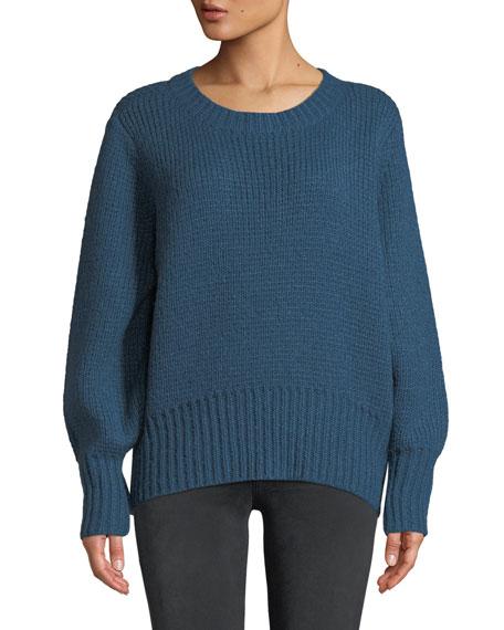 Matty Tie-Back Crewneck Sweater