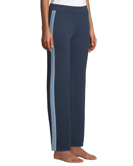 Sporty Racer Stripe Cashmere Pants