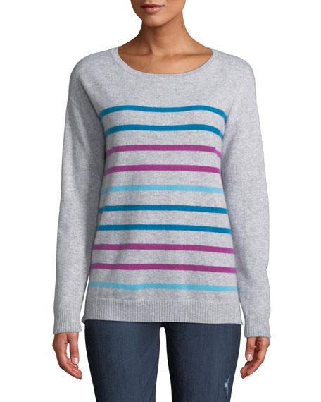 Neiman Marcus Cashmere Collection Cashmere Multicolor Striped